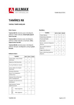Tamires R8 GR - Allmax Yapı Kimyasalları