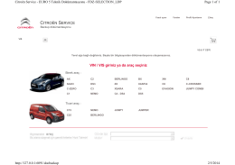 VIN / VIS giriniz ya da araç seçiniz CITROËN SERVICE