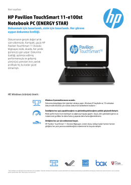 HP Pavilion TouchSmart 11-e100st Notebook PC (ENERGY STAR)