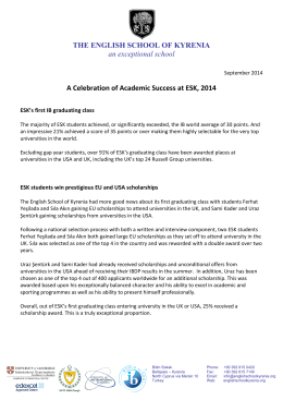 ESK Successes of the Last Academic Year