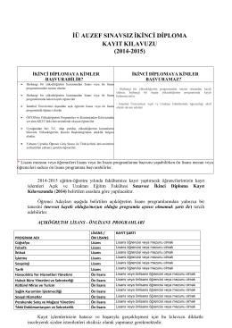 Sınavsız İkinci Diploma Kayıt Kılavuzu