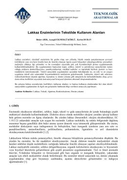 Lakkaz Enzimlerinin Tekstilde Kullanım Alanları