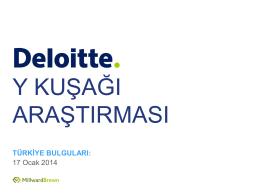 Y KUŞAĞI ARAŞTIRMASI - Deloitte Eğitim Vakfı