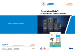 GD100-01 Solar Pump Drive Catalog