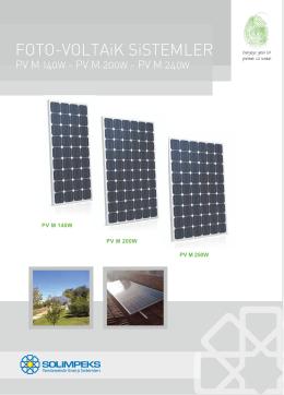 Foto Voltaik – PV M 140W – PV M 200W
