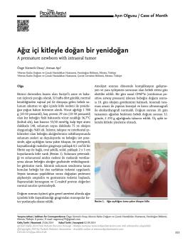Tam Metin (PDF) - Türk Pediatri Arşivi