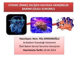 stroke (inme) - Acıbadem Hemşirelik