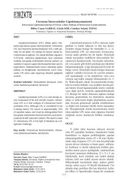 Uterusun İntravasküler Lipoleiomyomatozisi