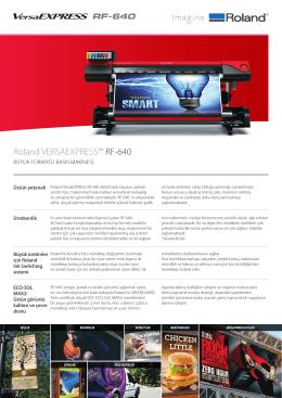 Roland VERSAEXPRESS™ RF-640 - OTS Dijital Baskı Çözümleri