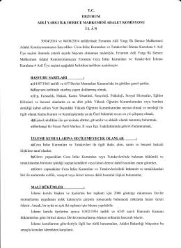 iı,AN - Erzurum Adliyesi