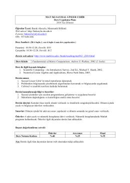 MAT 562 Syllabus