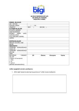başvuru formunu
