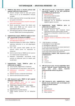 VATANDAŞLIK – ANAYASA HUKUKU - 14