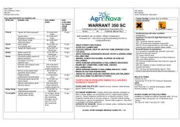 WARRANT 350 SC - AgriNova Türkiye