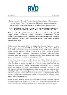 """""""ÖLÇÜMLEMELİYİZ VE BÜYÜMELİYİZ"""""""