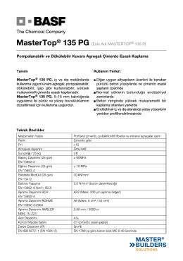 Eski Adı MASTERTOP® 135 P