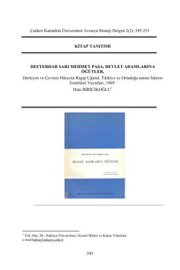 Tam Metin (PDF) - Karatekin Üniversitesi Avrasya Stratejik