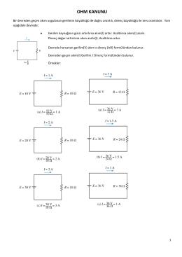 Ders 1 - DİRENÇ DEVRELERİ