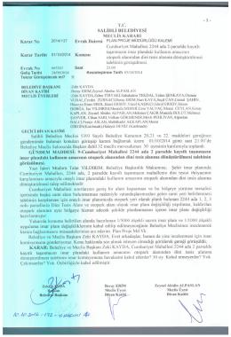 2014/137 cumhuriyet mh. 2244 ada 2 parselde kayıtlı taşınmazın