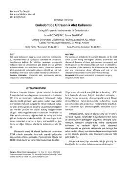 Endodontide Ultrasonik Alet Kullanımı
