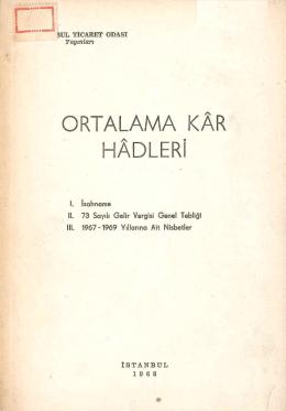 ORTALAMA KAR HADLERi