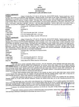 T.C. AD ANA 14. ICRA DAIRJESi 2013/9269 ESAS Mustafa Umut