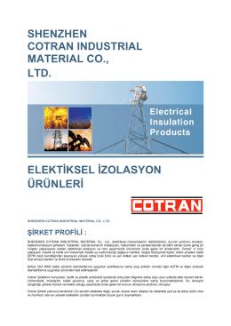 shenzhen cotran ındustrıal materıal co., ltd. elektiksel izolasyon