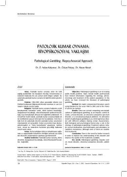 PDF Sürümünü indir - Prof. Dr. Özkan PEKTAŞ