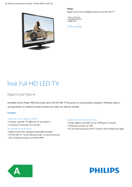 Product Leaflet: 56 cm (22 inç) İnce Full HD LED TV