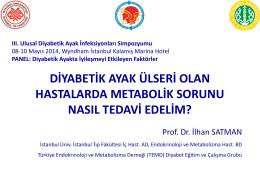 Diyabetik ayakta metabolik kontrol ve önemi