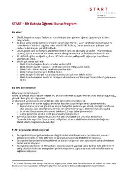 START – Bir Bakışta Öğrenci Bursu Programı - START