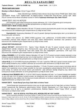 04.11.2014 Tarihli Karar