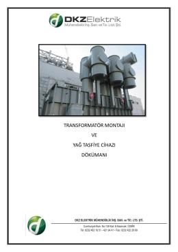 trafo montaj dosyası - DKZ Elektrik Mühendislik