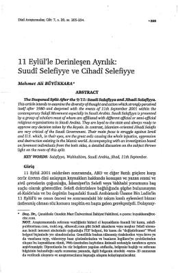 Suudi Selefiye ve Cihadi Selefiyye (Memet Ali Büyükkara – 2004)