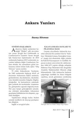 Ankara Yazıları