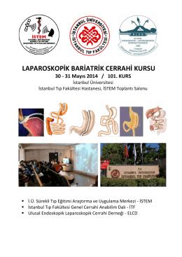 Laparoskopik Bariatrik Cerrahi Kurs Programı için TIKLAYINIZ…