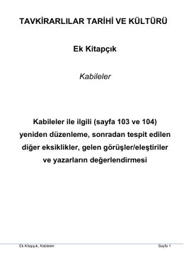 Tavkirarlılar Tarihi ve Kültür_Ek Kitapçık_(Kabileler