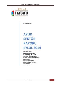 aylık sektör raporu eylül 2014