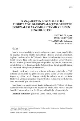 SOYSALDI, Aysen – SARNESAR, Katayoun-İRAN