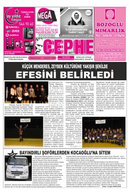 31.10.2014 Tarihli Cephe Gazetesi