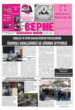 5.11.2014 Tarihli Cephe Gazetesi