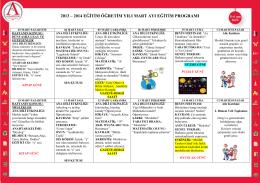 2013 – 2014 eğitim öğretim yılı mart ayı eğitim programı
