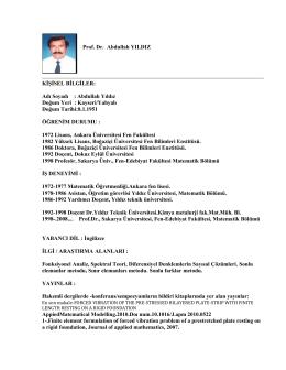 Prof.Dr.Abdullah YILDIZ