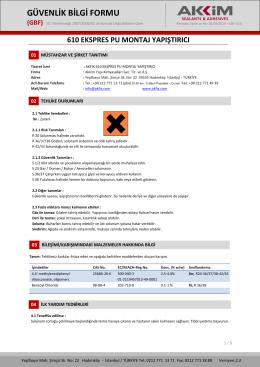 güvenlik bilgi formu (gbf)