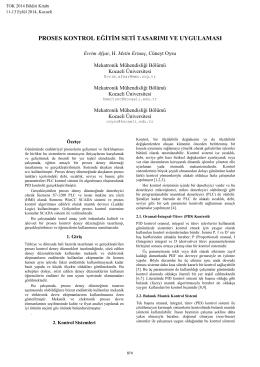 proses kontrol eğitim seti tasarımı ve uygulaması