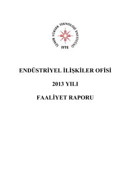 Endüstriyel İlişkiler Ofisi - İzmir Yüksek Teknoloji Enstitüsü