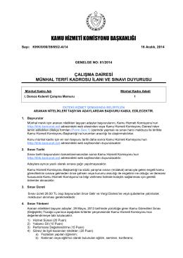 Çalışma Dairesi - Kamu Hizmeti Komisyonu