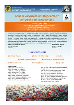 Genom Varyasyonları - Biyoteknoloji ve Genetik Mühendisliği