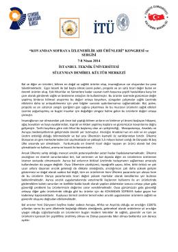 """""""KOVANDAN SOFRAYA İZLENEBİLİR ARI ÜRÜNLERİ"""" KONGRESİ"""