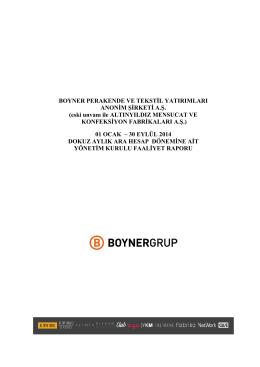Yönetim Kurulu Yıllık ve Ara Dönem Faaliyet Raporları